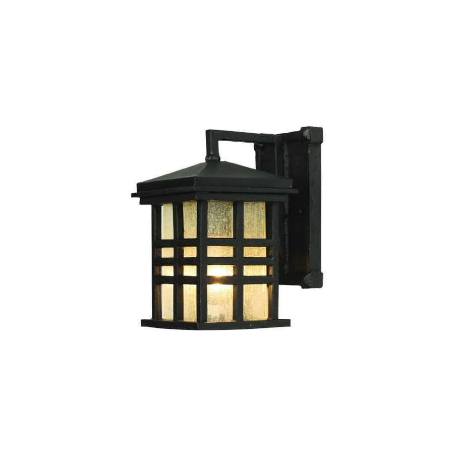 Bel Air Lighting 10-in H Black Outdoor Wall Light