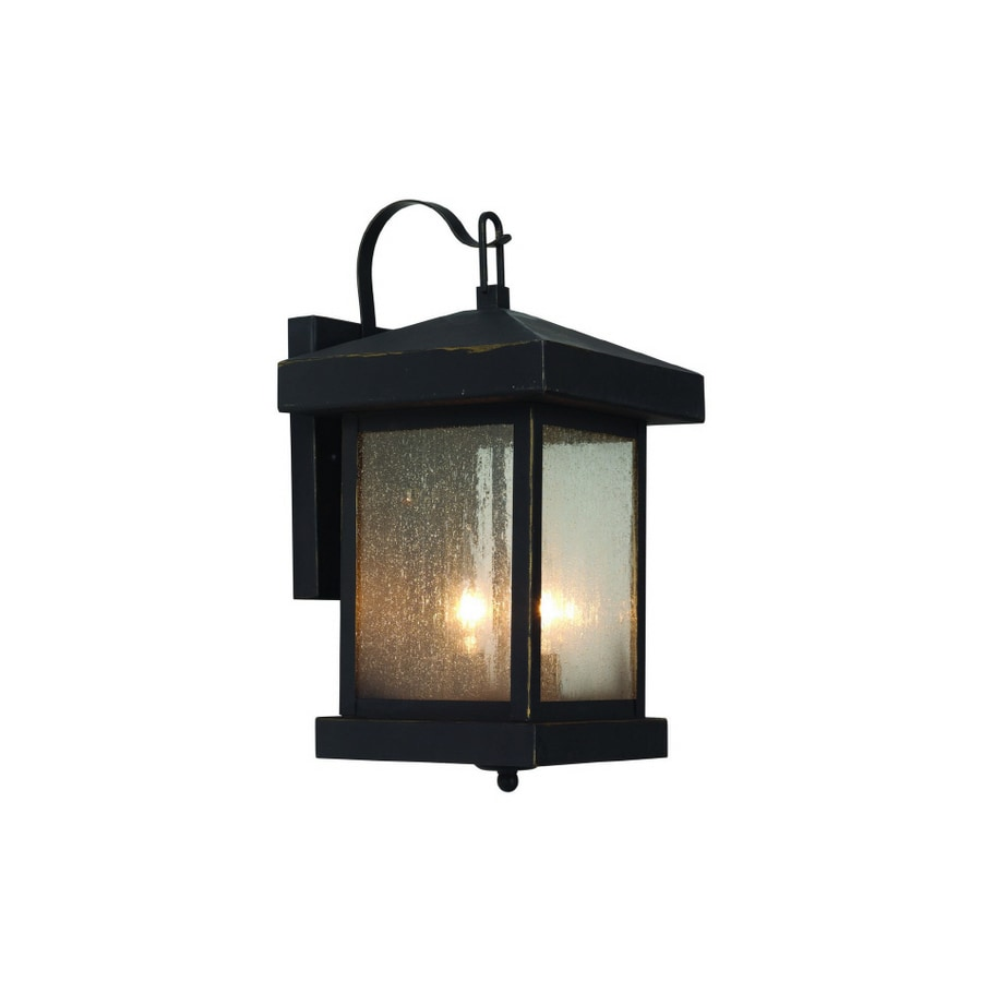 shop bel air lighting weathered bronze outdoor wall light at lowes com