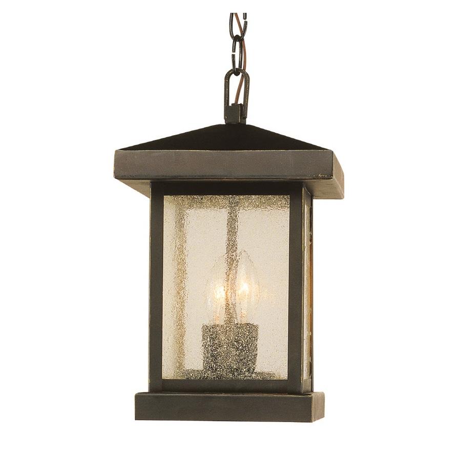 Bel Air Lighting 13-in H Weathered Bronze Outdoor Pendant Light