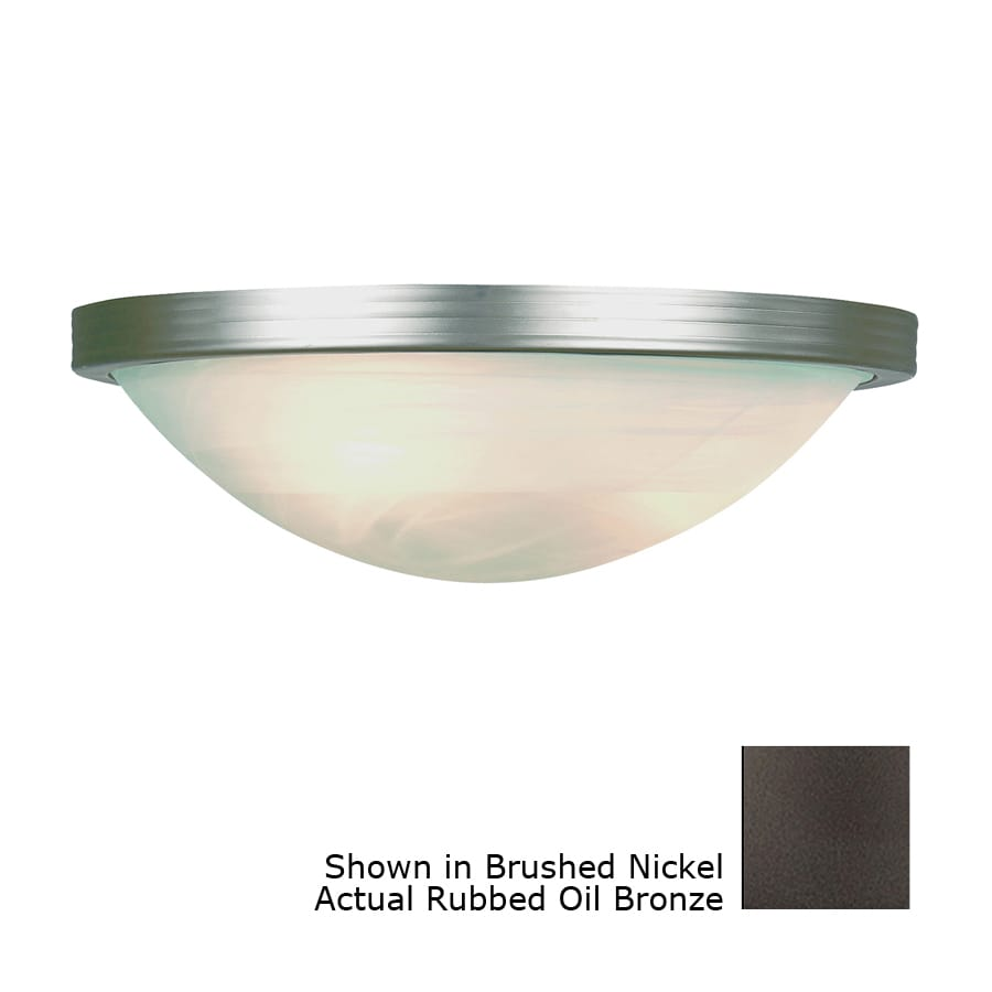 Bel Air Lighting 15-in W 1-Light Oil Rubbed Bronze Pocket Hardwired Wall Sconce