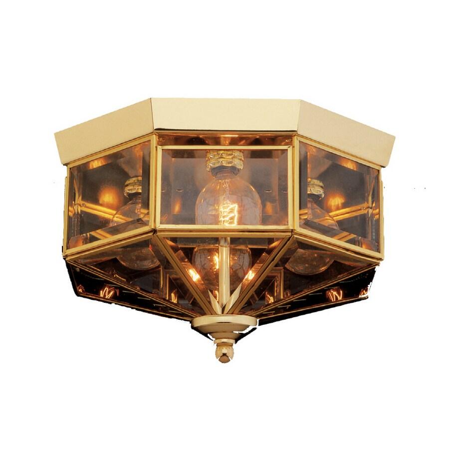 Shop Portfolio 4-Light Brass & Gold Ceiling Flushmount at Lowes.com