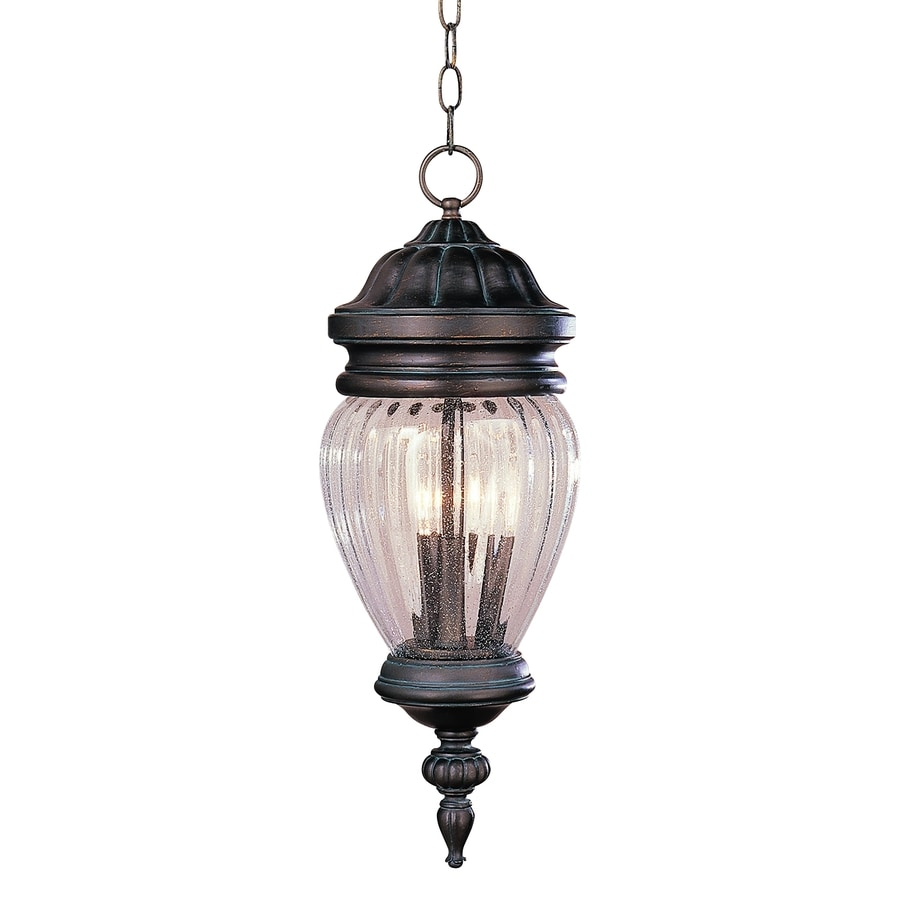 Bel Air Lighting 21-3/4-in Antique Rust Outdoor Pendant Light