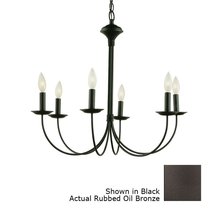 Portfolio New Century 6 Light Oil Rubbed Bronze Chandelier