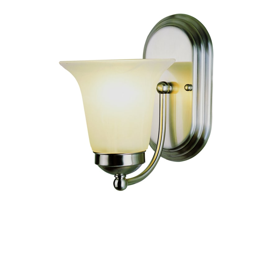 Bel Air Lighting 6-in W 1-Light Brushed Nickel Arm Hardwired Wall Sconce