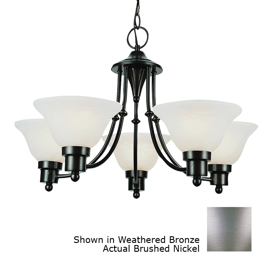 Bel Air Lighting 5 Light Contemporary Collection Brushed Nickel Chandelier