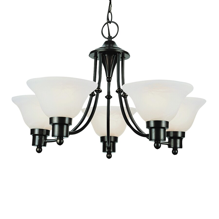 Bel Air Lighting 5 Light Contemporary Collection Weathered Bronze Chandelier