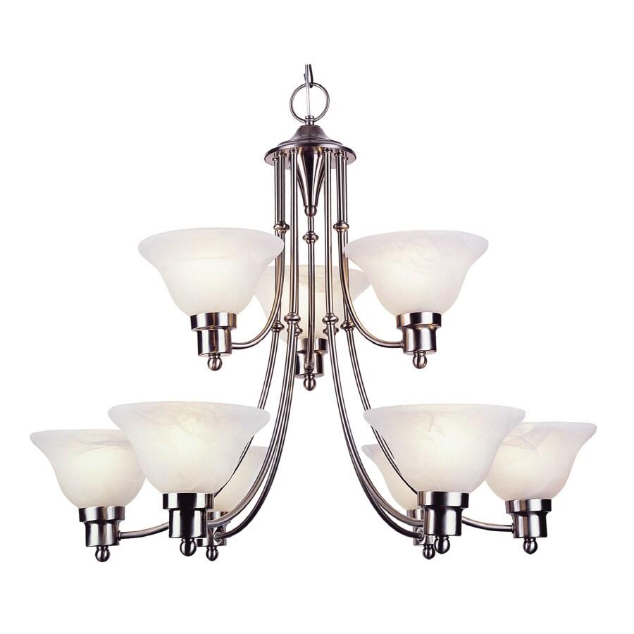 Bel Air Lighting 9 Light Back To Basics Weathered Bronze Chandelier