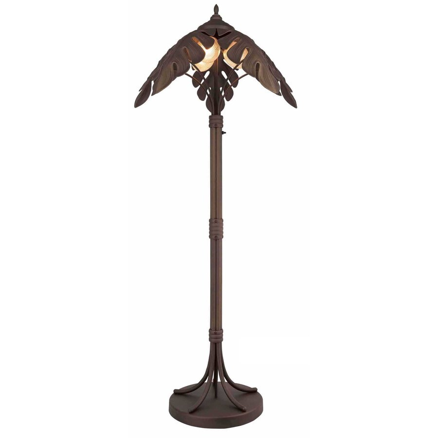 Bel Air Lighting 30-in H Oil Rubbed Bronze Outdoor Table Lamp with Plastic Shade