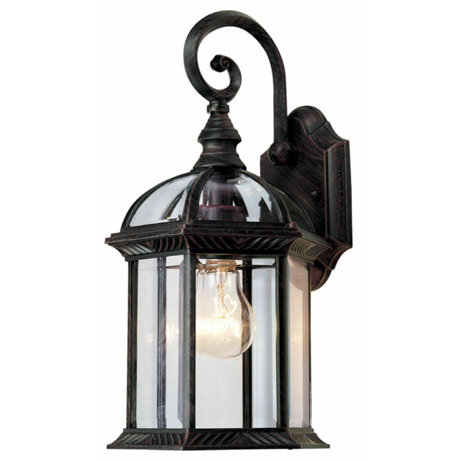 Portfolio 15-1/2-in Rust Outdoor Wall Light at Lowes.com