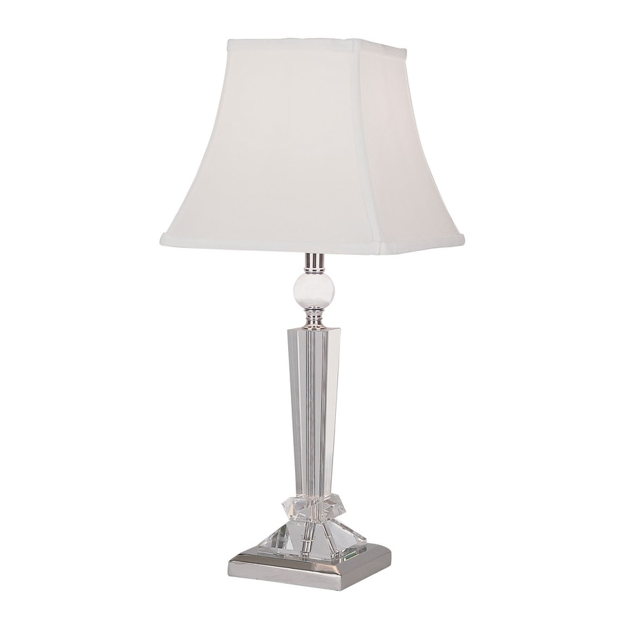 Portfolio 22-in Chrome Indoor Table Lamp with Fabric Shade