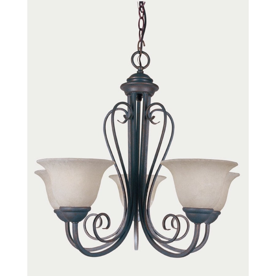 Portfolio Iron Stone 5-Light Bronze Gold Chandelier