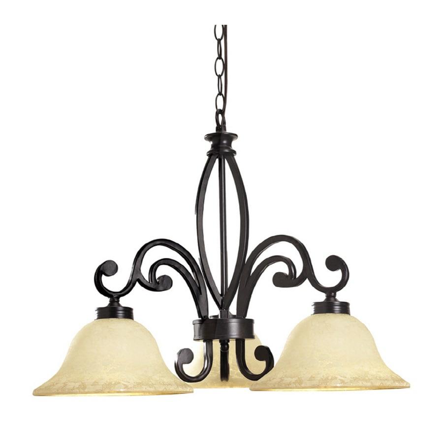 Shop portfolio 3 light bronze chandelier at lowes portfolio 3 light bronze chandelier aloadofball Image collections