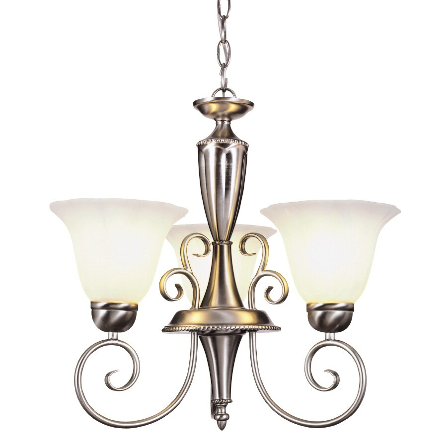 Shop Portfolio 3-Light Nickel Traditional Chandelier At