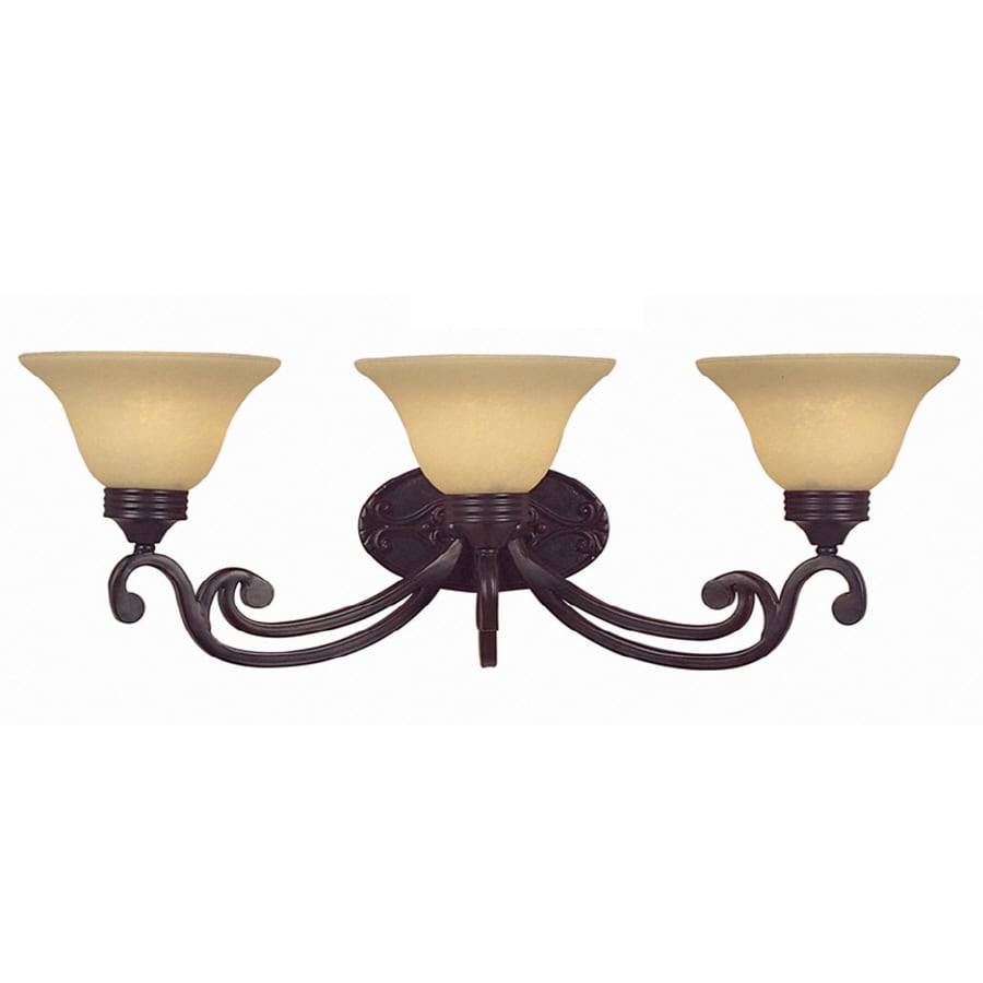Portfolio 3 Light Oil Rubbed Bronze Bathroom Vanity Light
