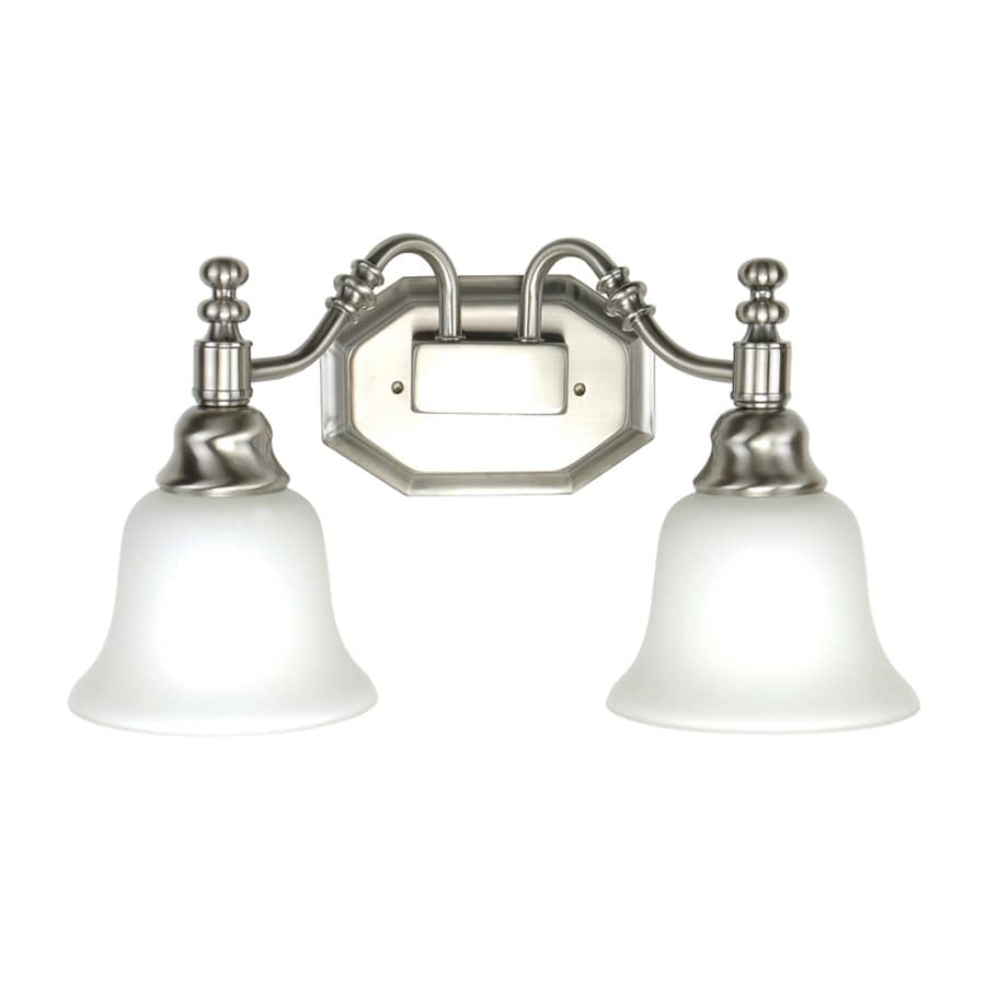 Portfolio Nostalgic 2-Light 13-in Antique Nickel Vanity Light