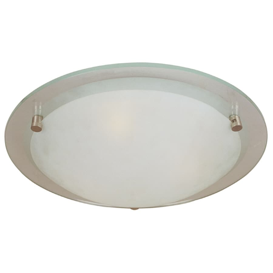 Bel Air Lighting 14.5-in W Brushed Nickel Ceiling Flush Mount