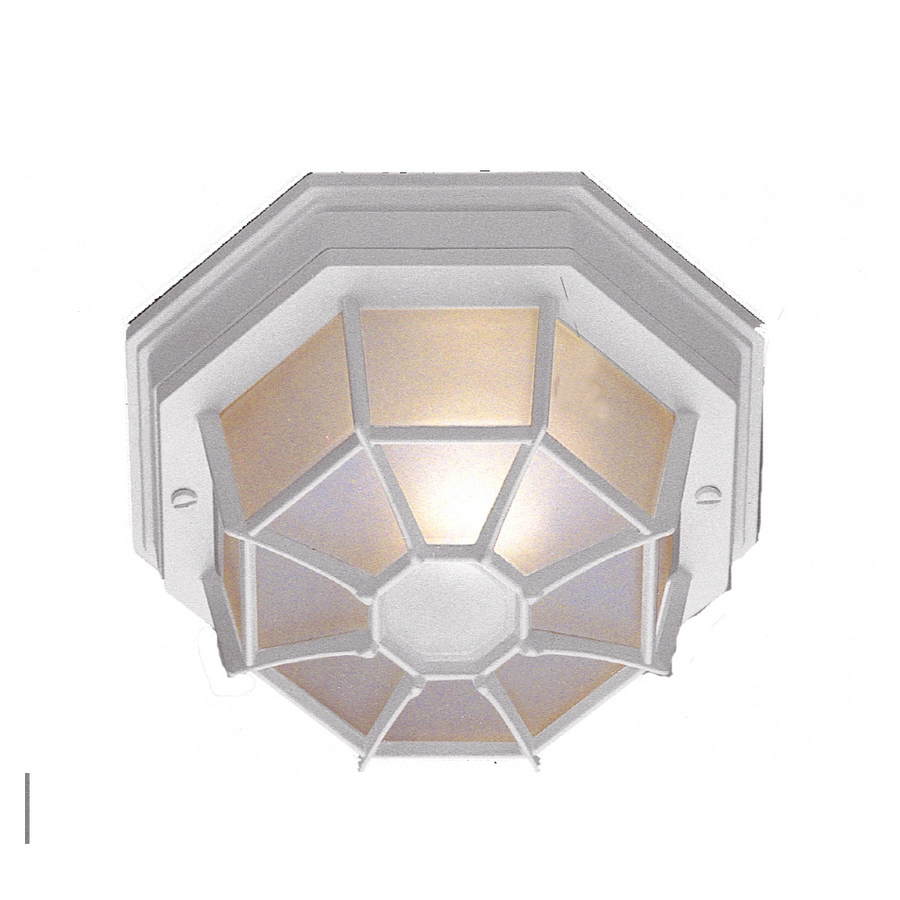 Bel Air Lighting 9-in W White Outdoor Flush Mount Light