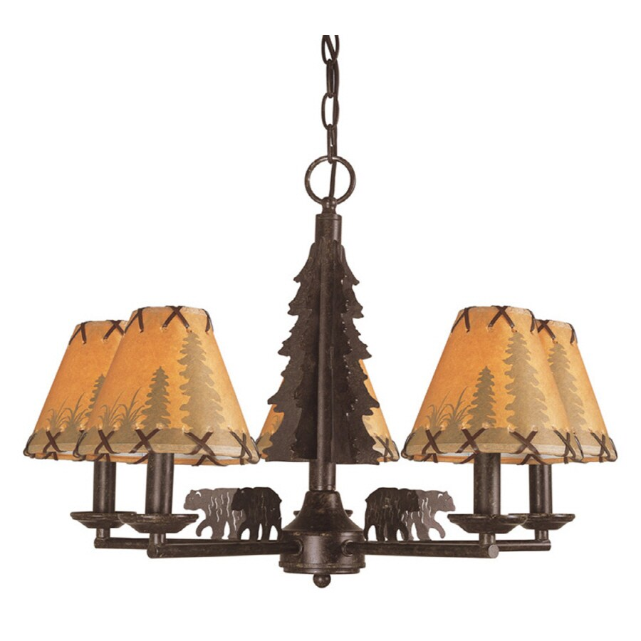Bel Air Lighting Lodge Decor 5 Light Oil Rubbed Bronze Chandelier