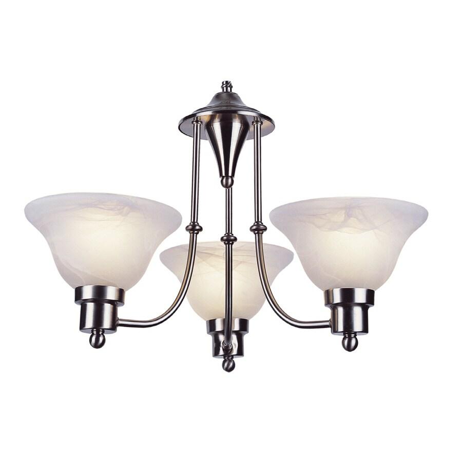 Shop bel air lighting back to basics 3 light brushed nickel bel air lighting back to basics 3 light brushed nickel chandelier aloadofball Image collections