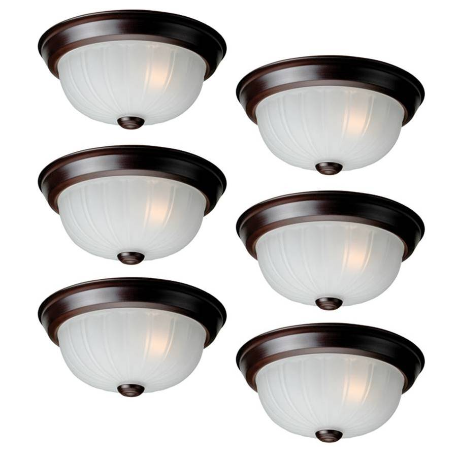 Utilitech 6-Pack 9.87-in W Oil Rubbed Bronze Ceiling Flush Mount