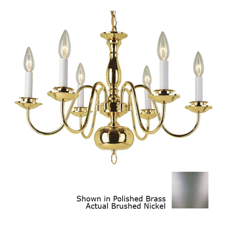 Bel Air Lighting Back To Basics 23 5 In 6 Light Brushed Nickel Chandelier