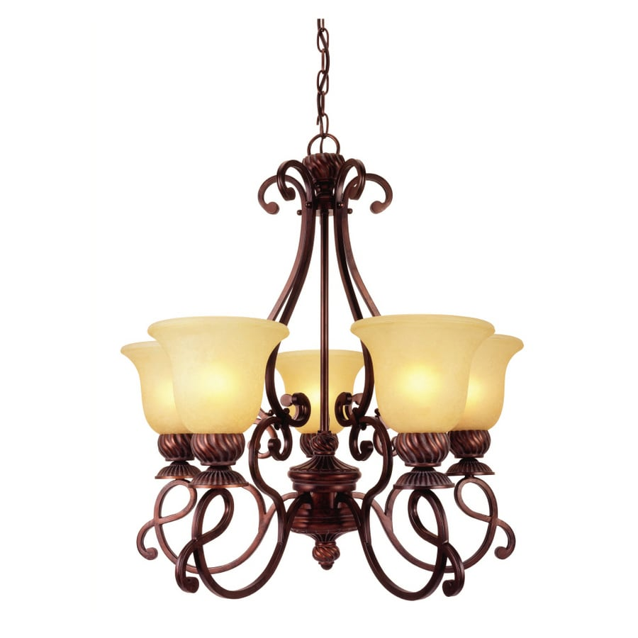Portfolio 5 Light Bronze Traditional Chandelier