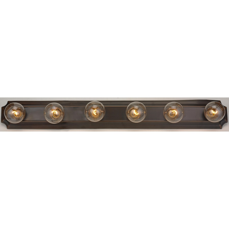 Shop Portfolio 6-Light Oil Rubbed Bronze Bathroom Vanity Light at ...