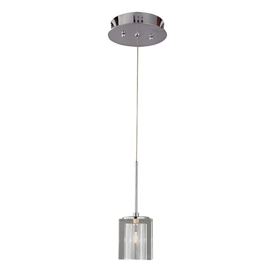 Shop portfolio 3 in w chrome crystal mini pendant light with clear portfolio 3 in w chrome crystal mini pendant light with clear glass shade mozeypictures Image collections