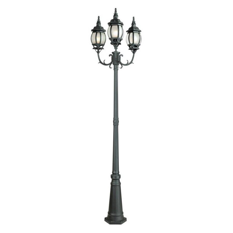 bel air lighting 3head french lantern post lamp