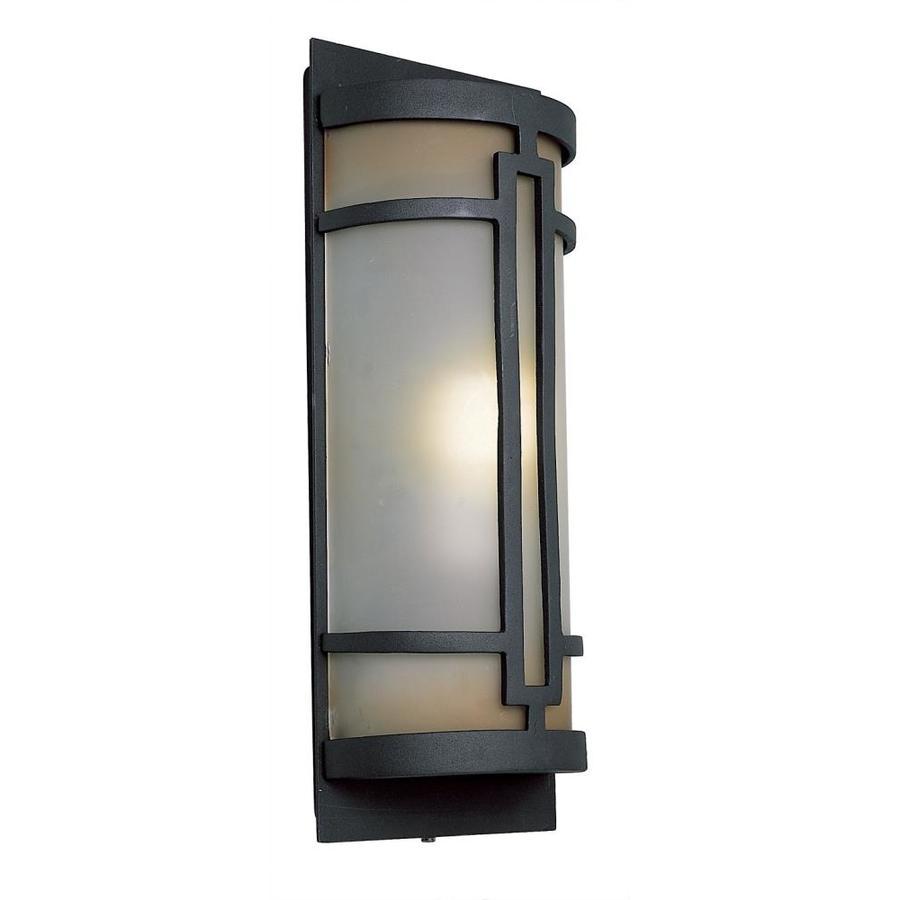Portfolio 17-in H Black Outdoor Wall Light ENERGY STAR