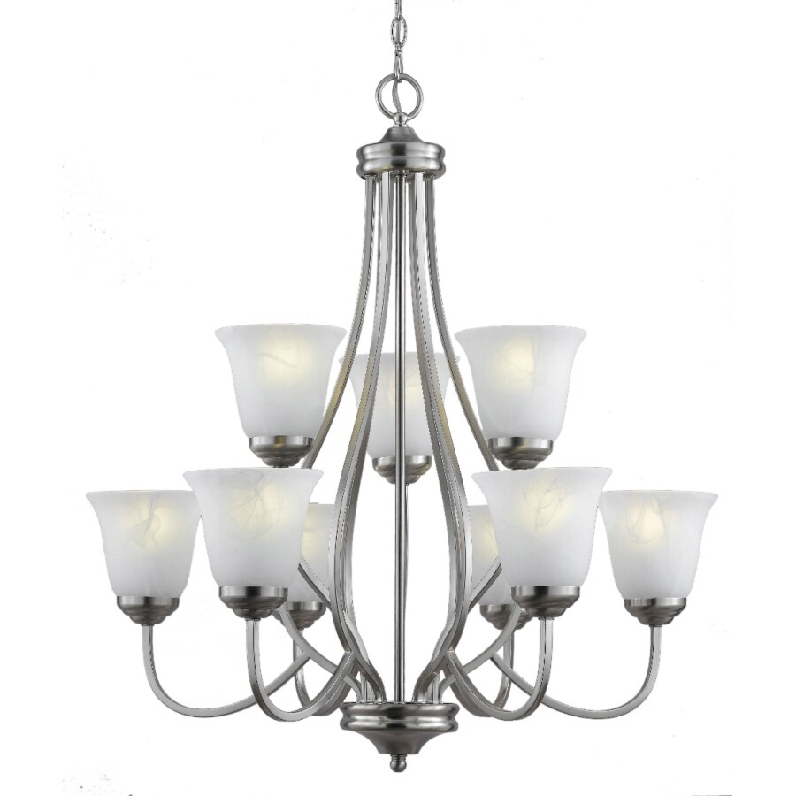 Bel Air Lighting 9 Light Brushed Nickel Chandelier