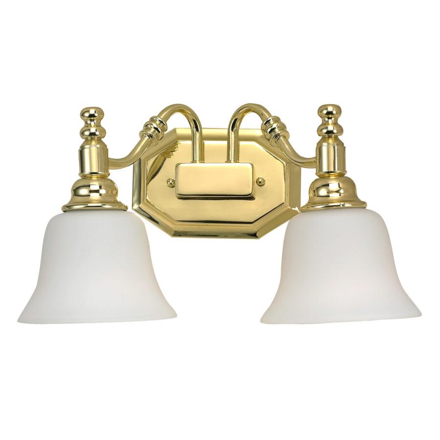 Shop Bel Air Lighting Light Polished Brass Bathroom Vanity Light - Polished brass bathroom sconces