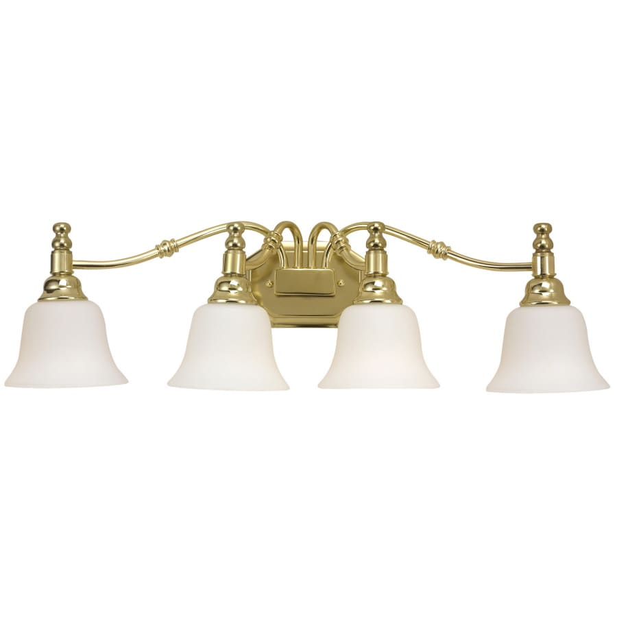 Shop Bel Air Lighting Light Polished Brass Vanity Light At Lowescom - Polished brass bathroom vanity light fixtures