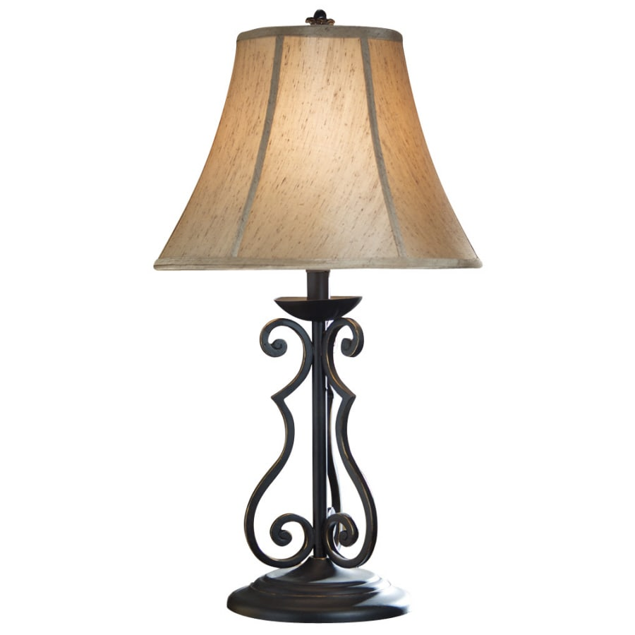 Shop portfolio 24 12h bronze scroll table lamp with tan shade at portfolio 24 12h bronze scroll table lamp with tan shade aloadofball Images