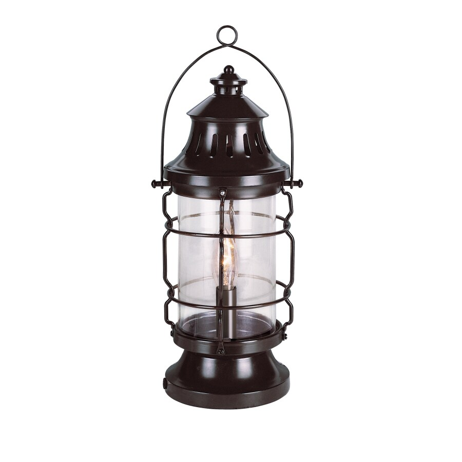 Bel Air Lighting Seaside 15.75-in Midnight Black Indoor Table Lamp with Glass Shade