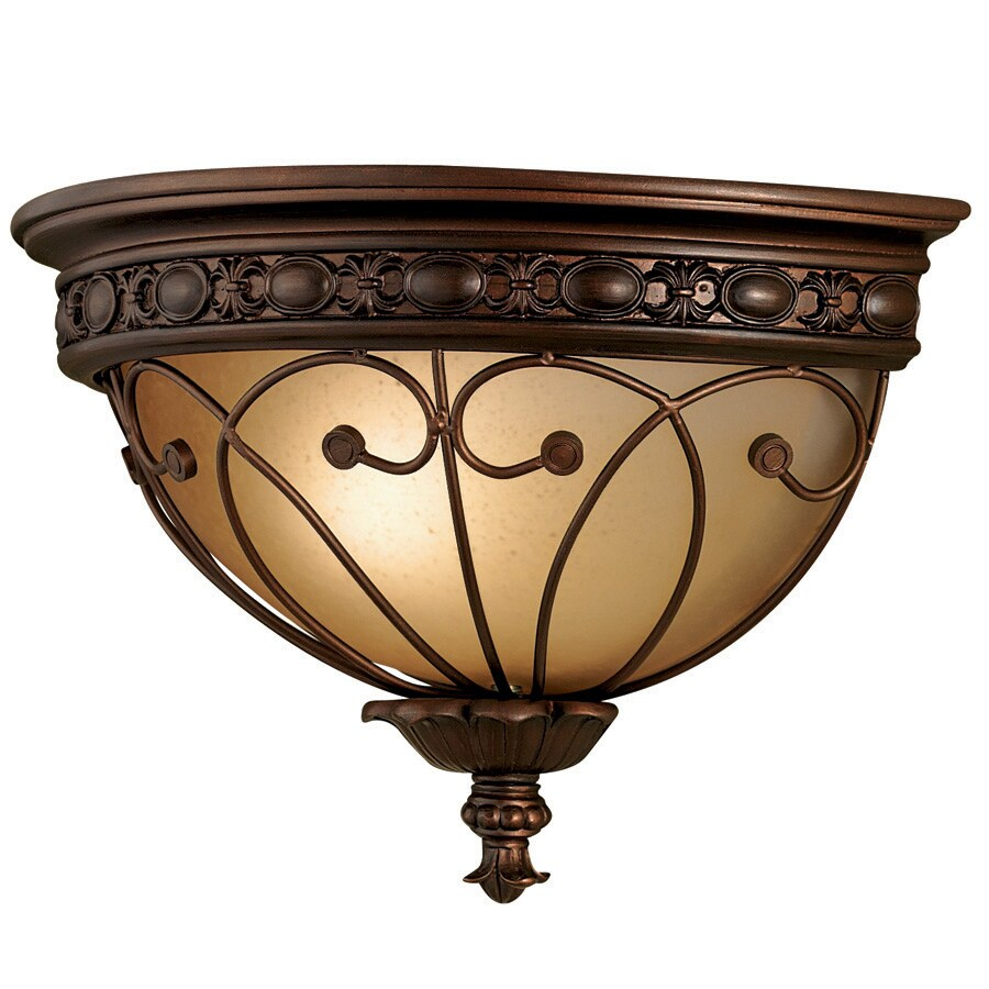 Shop Bel Air Lighting 1-Light Bronze Backplate Wall Sconce at Lowes.com