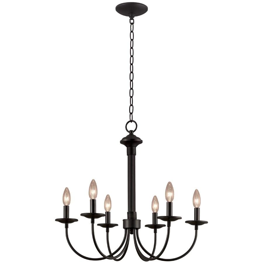 Chandeliers Lighting Lowes : Portfolio light new century black chandelier at