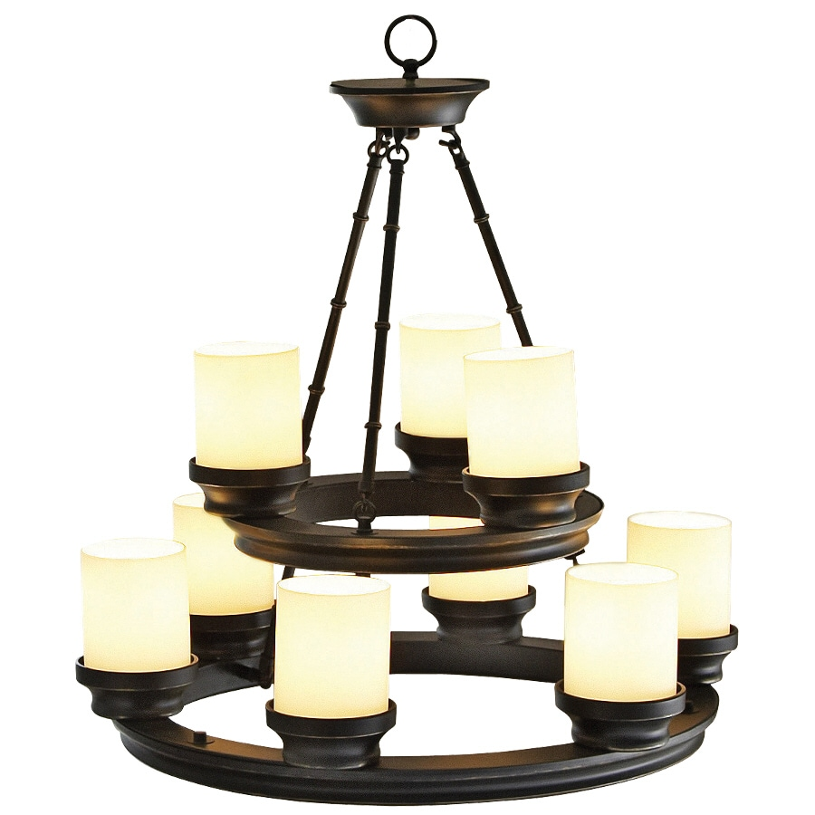 Shop Portfolio 9 Light Oil Rubbed Bronze Chandelier At