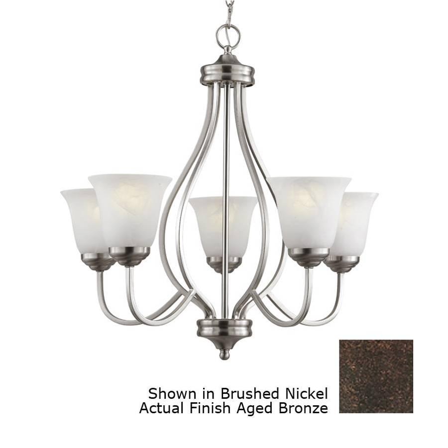 Bel Air Lighting 5 Light Aged Bronze Chandelier Energy Star