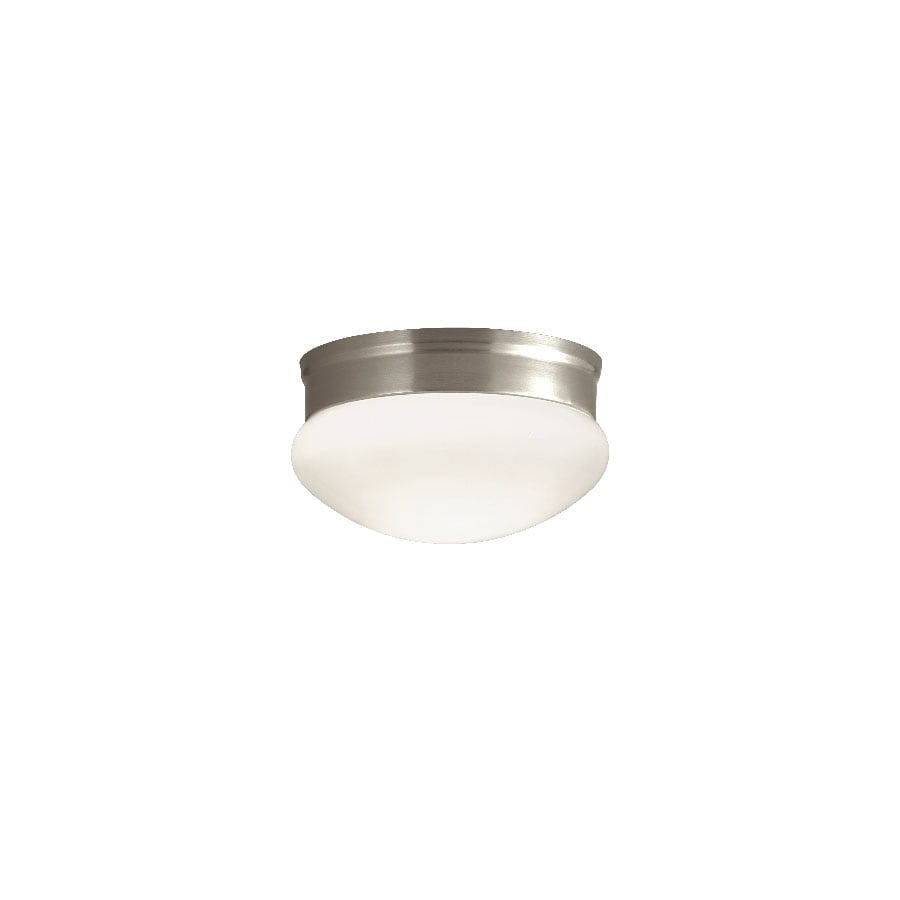Portfolio 9.13-in W Brushed Nickel Ceiling Flush Mount Light