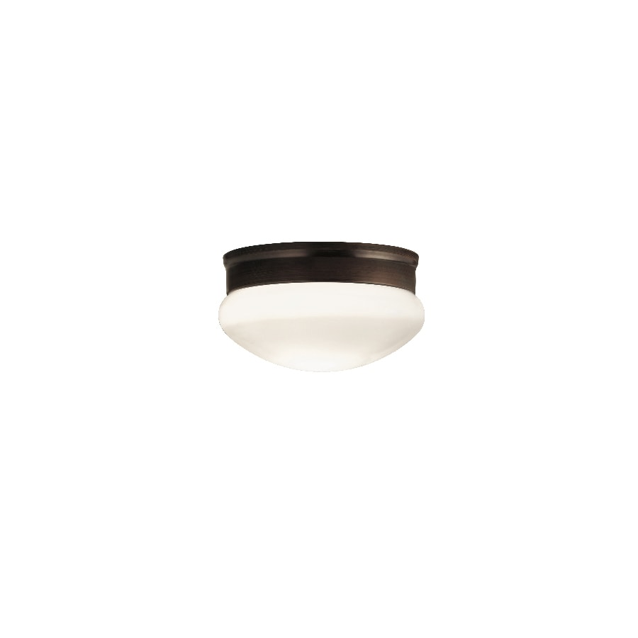 Portfolio 9.13-in W Oil Rubbed Bronze Flush Mount Light