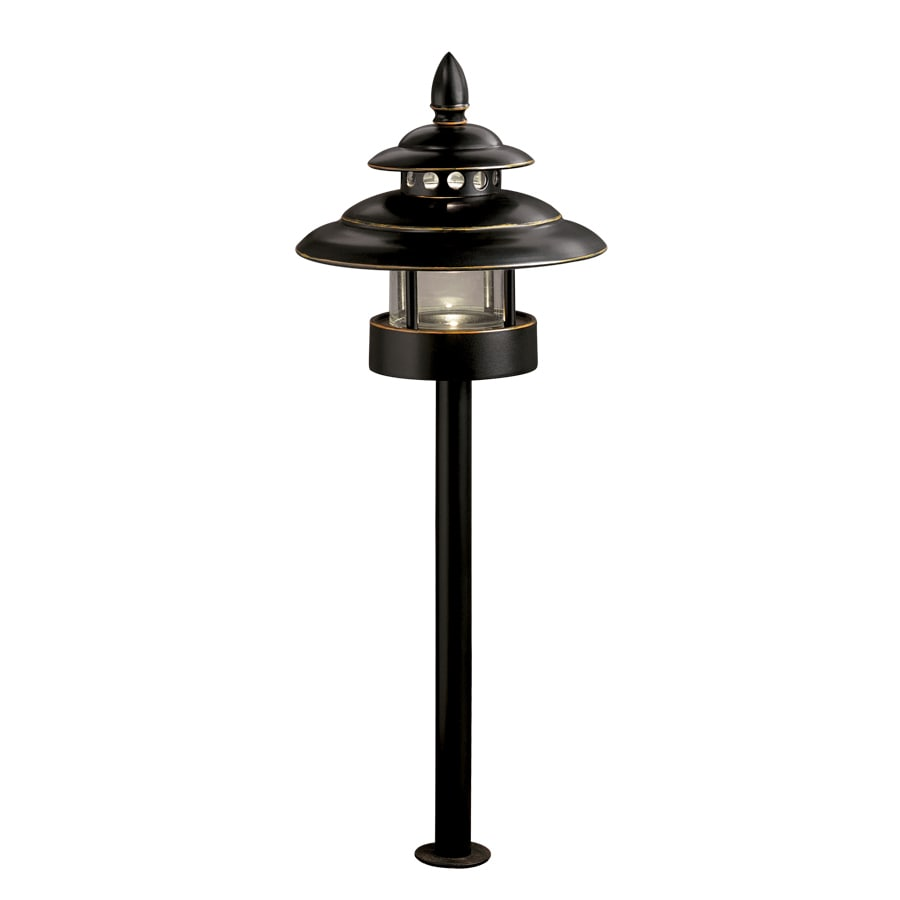 Shop Allen + Roth 4-Light Bronze Low Voltage Led Path