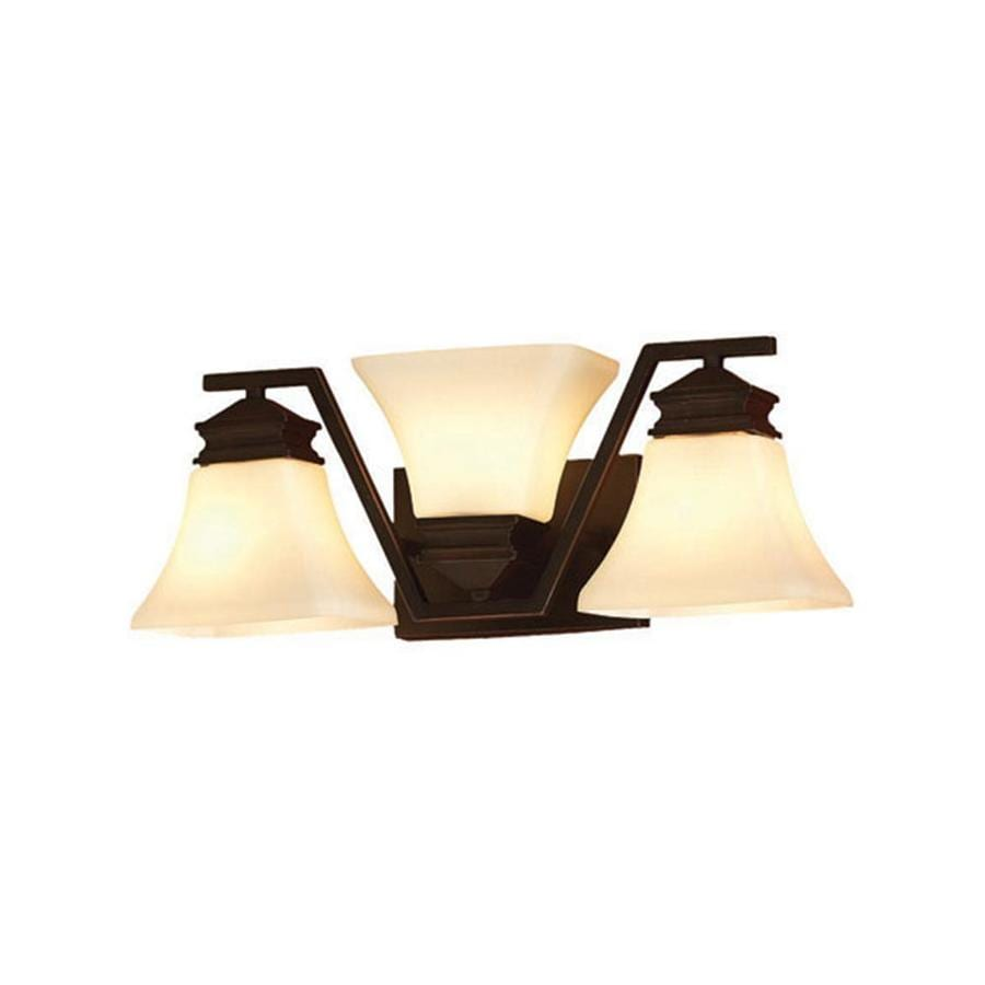 allen + roth Manhattan 3-Light 6.5-in Oil-Rubbed Bronze Vanity Light