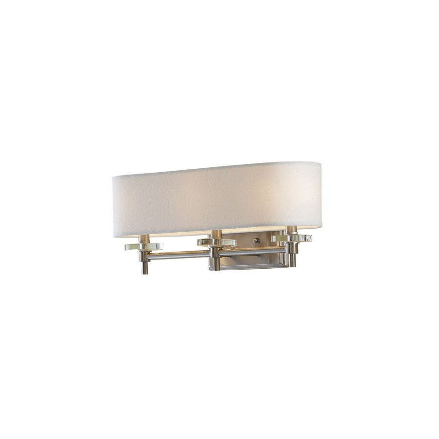 allen + roth 3-Light Brushed Nickel Bathroom Vanity Light