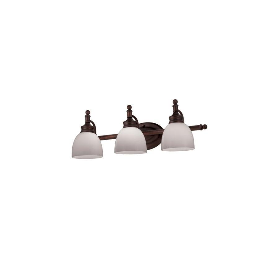 Portfolio 3-Light Oil-Rubbed Bronze Bathroom Vanity Light