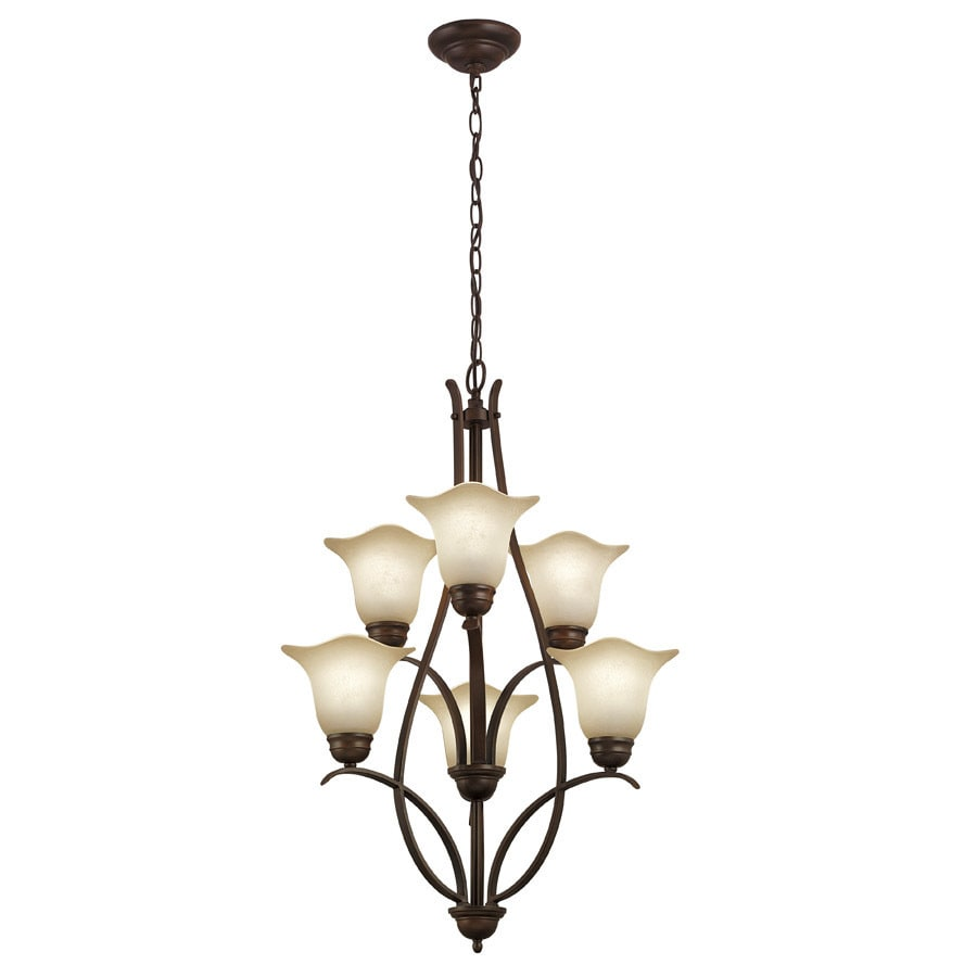 Portfolio 6-Light Dark Oil Rubbed Bronze Chandelier