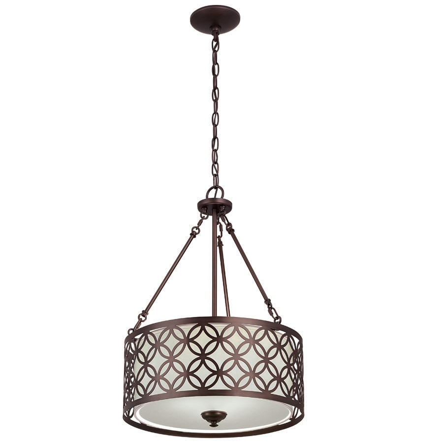 portfolio earling 18in dark oilrubbed bronze single pendant - Bronze Pendant Light