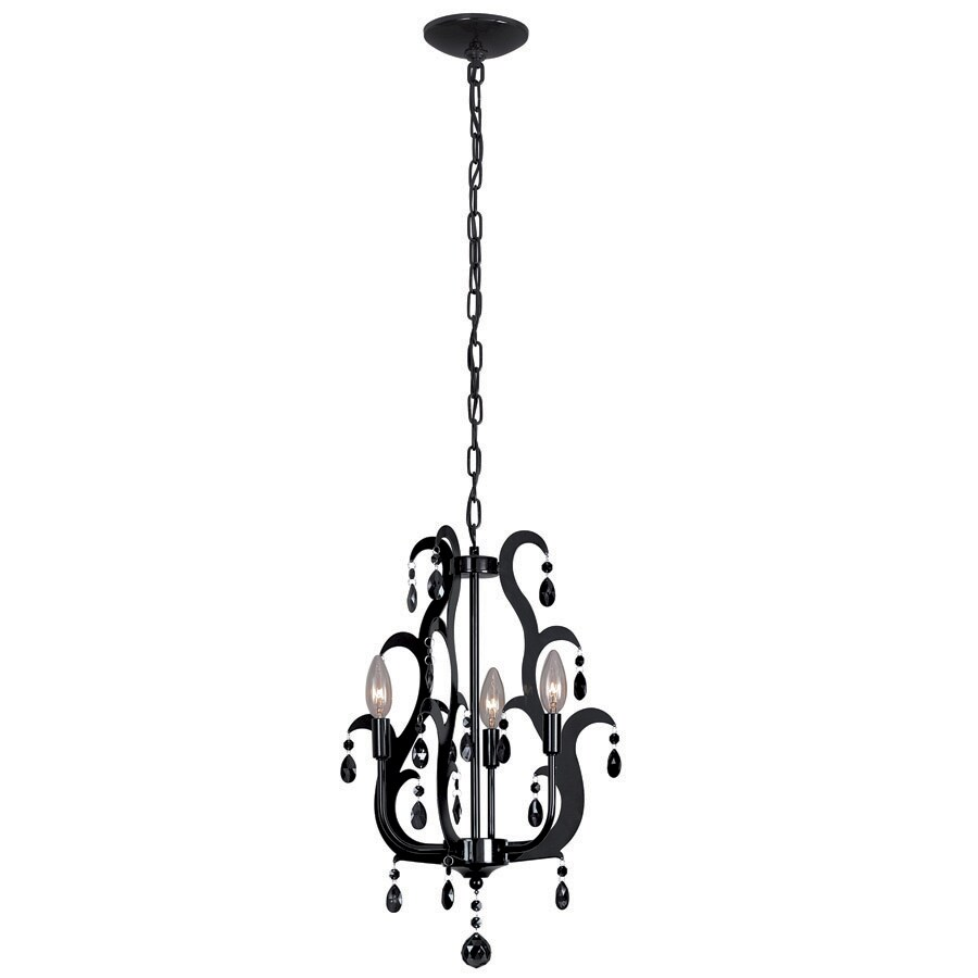 Shop portfolio 3 light black chandelier at lowes portfolio 3 light black chandelier aloadofball Image collections