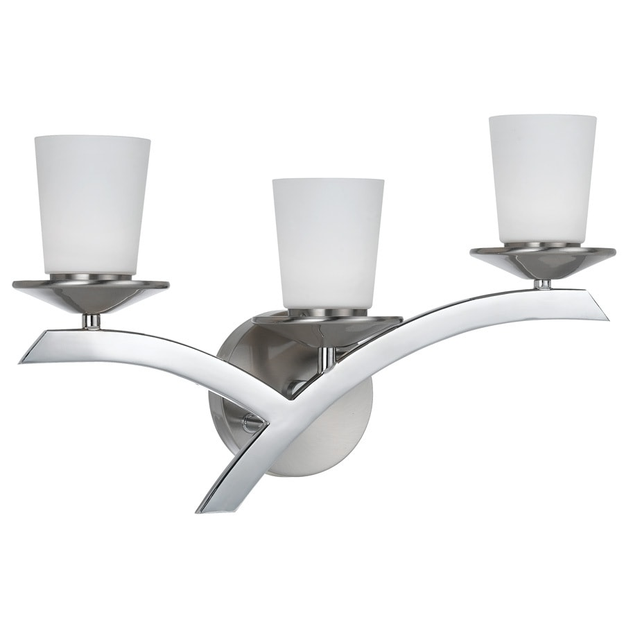 Bel Air Lighting 3-Light 11.875-in Brushed Nickel LED Vanity Light
