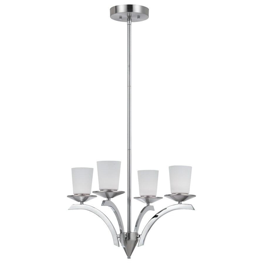 Bel Air Lighting 4-Light Brushed Nickel LED Chandelier